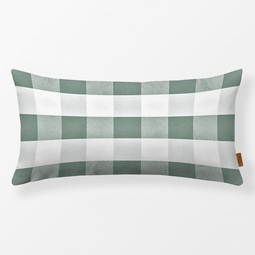 Kissen Eucalyptus Green Gingham Check
