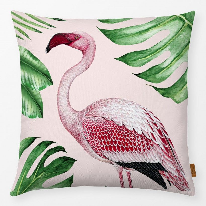 Kissen Jungle Flamingo