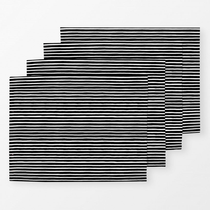 Tischset Marker Stripes Black